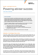 Powering adviser success – The value of advice